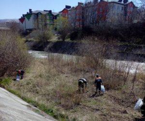 В рамках акции «Чистый берег» очистили русло Подкумка