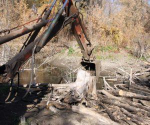 Продолжается очистка русла реки Ольховки