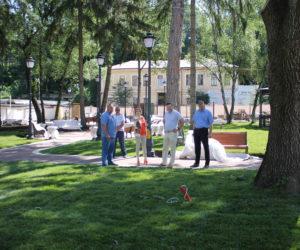 Сквер Ксении Ге завершат до конца лета